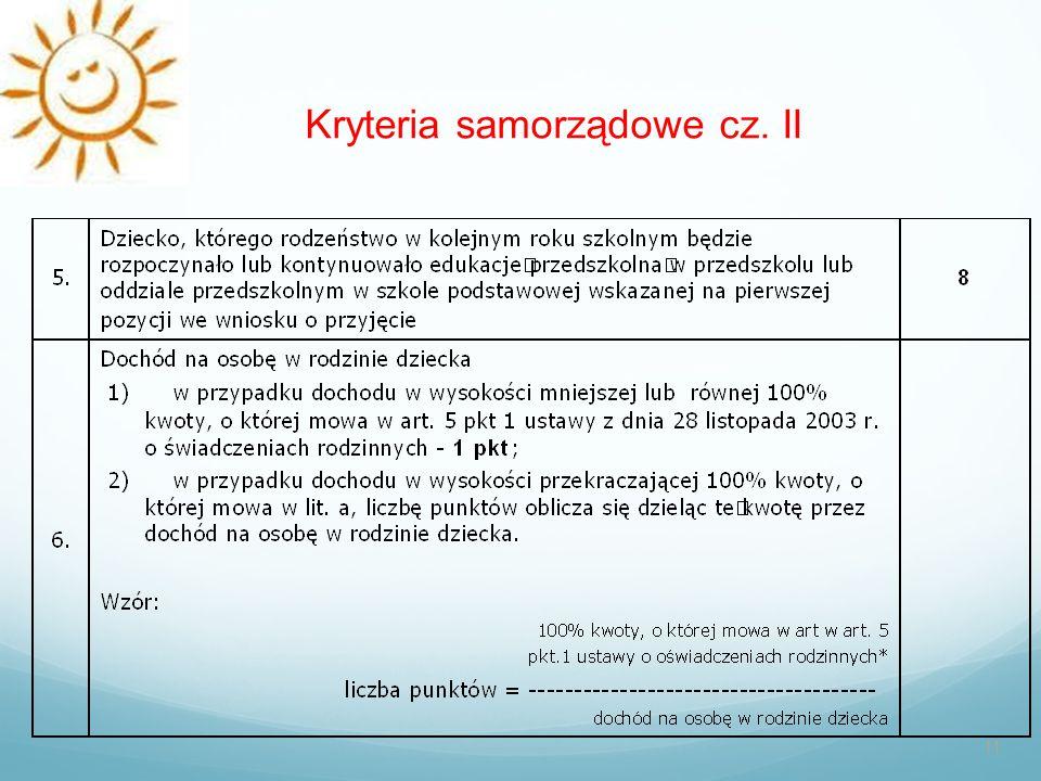 Kryteria samorządowe cz. II 11