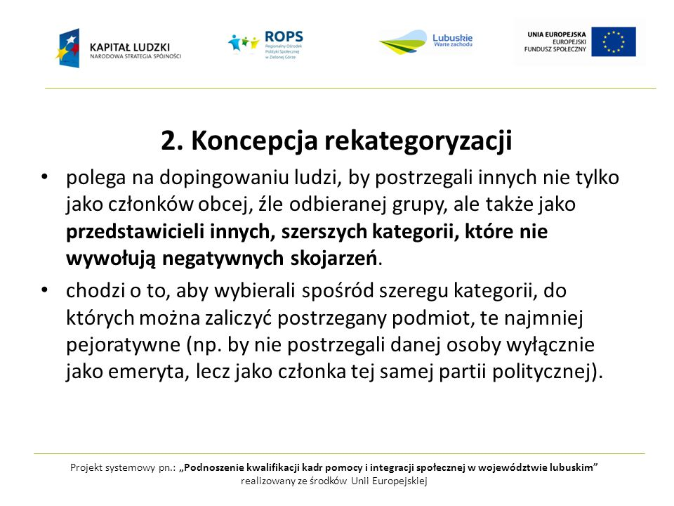"""Projekt systemowy pn.: """"Podnoszenie kwalifikacji kadr pomocy i integracji społecznej w województwie lubuskim realizowany ze środków Unii Europejskiej 2."""