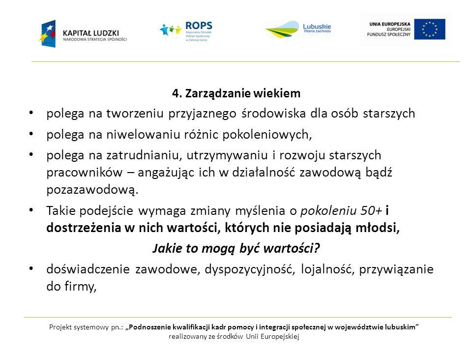 """Projekt systemowy pn.: """"Podnoszenie kwalifikacji kadr pomocy i integracji społecznej w województwie lubuskim realizowany ze środków Unii Europejskiej 5."""
