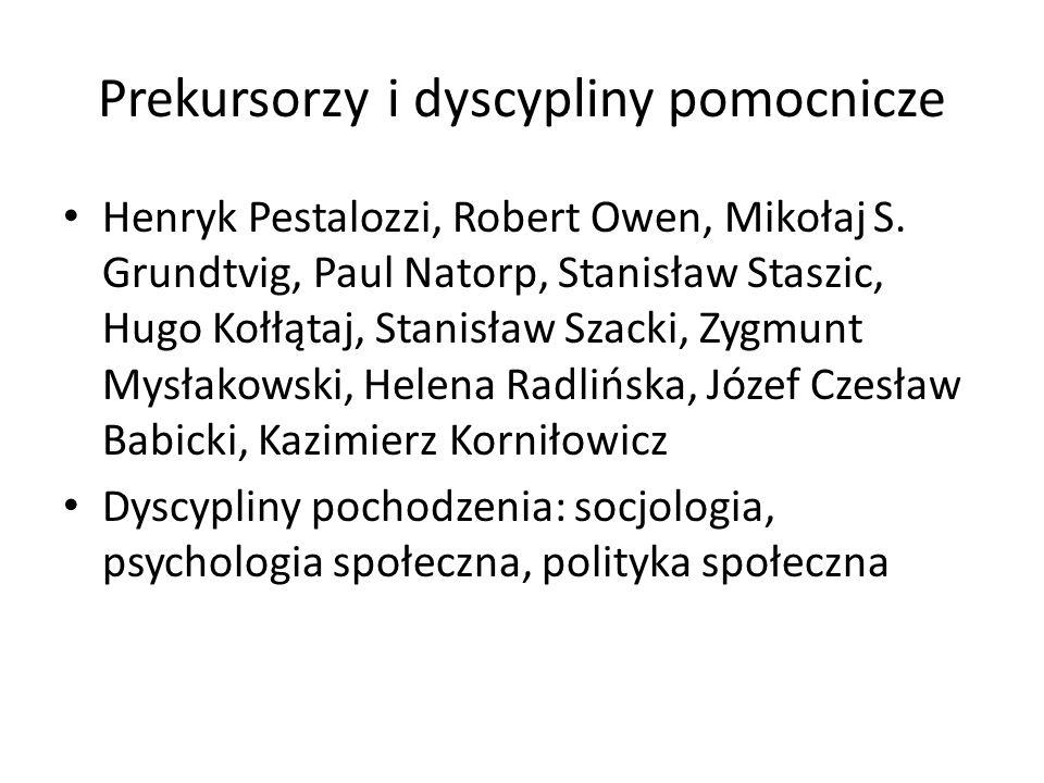 Definicja pedagogiki społecznej H.Radlińska unikała zdefiniowania ped.