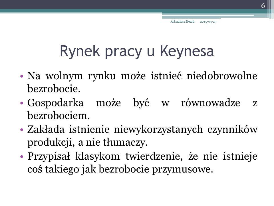 Ortodoksyjna szkoła keynesowska Gospodarka jest z natury niestabilna.
