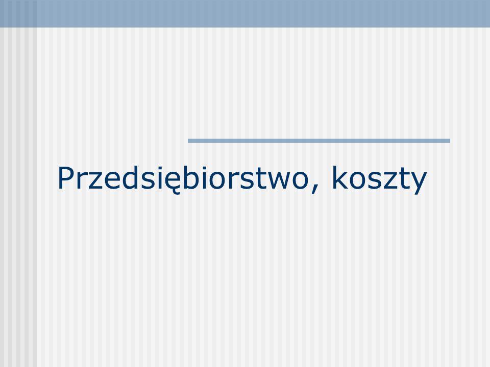 22 Koszt marginalny Koszt marginalny MC(Q) (marginal cost) – in.