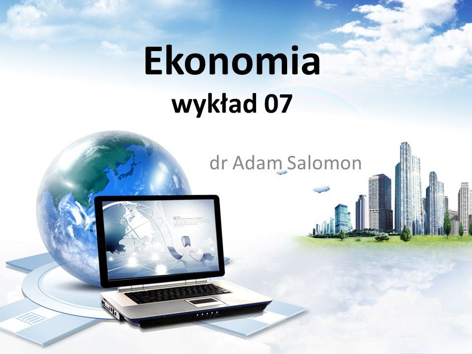 Mnożnik inwestycyjny – przykład (rozwiązanie) Ekonomia dr Adam Salomon, Katedra Transportu i Logistyki, WN AM w Gdyni 22 Mnożnik wynosi m = 1/(1-KSK) = 1/(1-0.8)= 1/0.2 = 5.