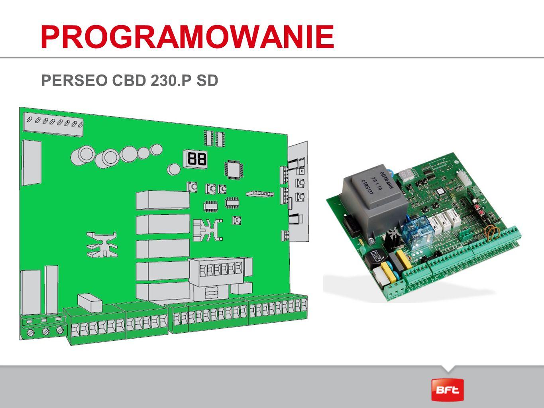 PROGRAMOWANIE PERSEO CBD 230.P SD
