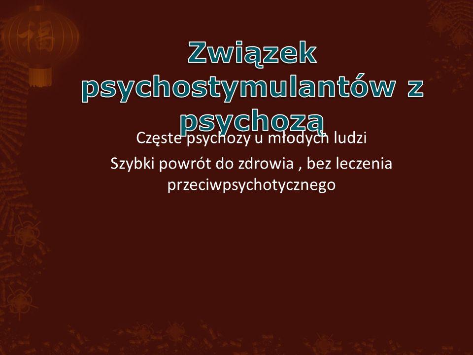Częste psychozy u młodych ludzi Szybki powrót do zdrowia, bez leczenia przeciwpsychotycznego
