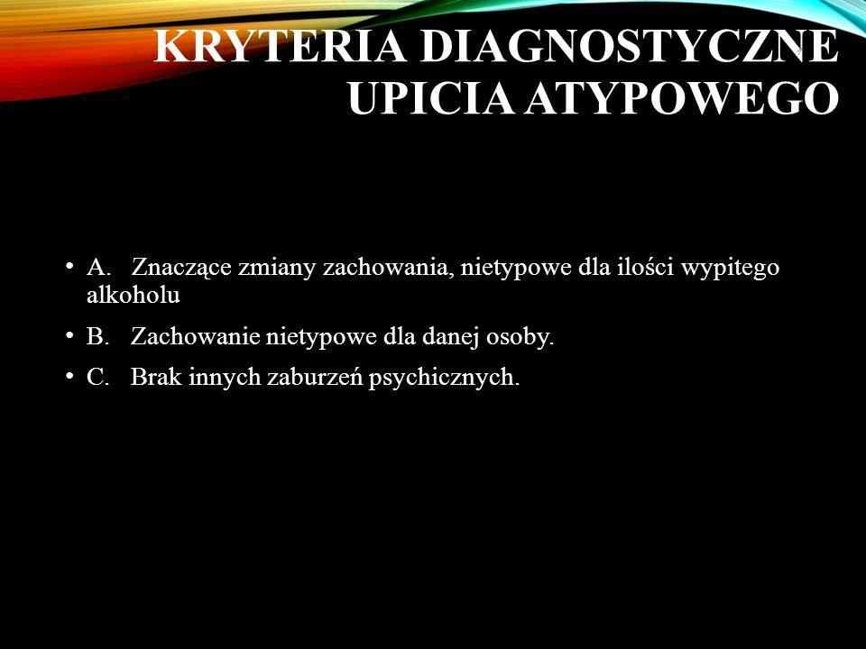 KRYTERIA DIAGNOSTYCZNE UPICIA ATYPOWEGO A.