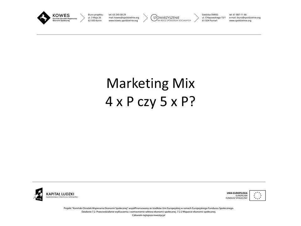 Marketing Mix 4 x P czy 5 x P?