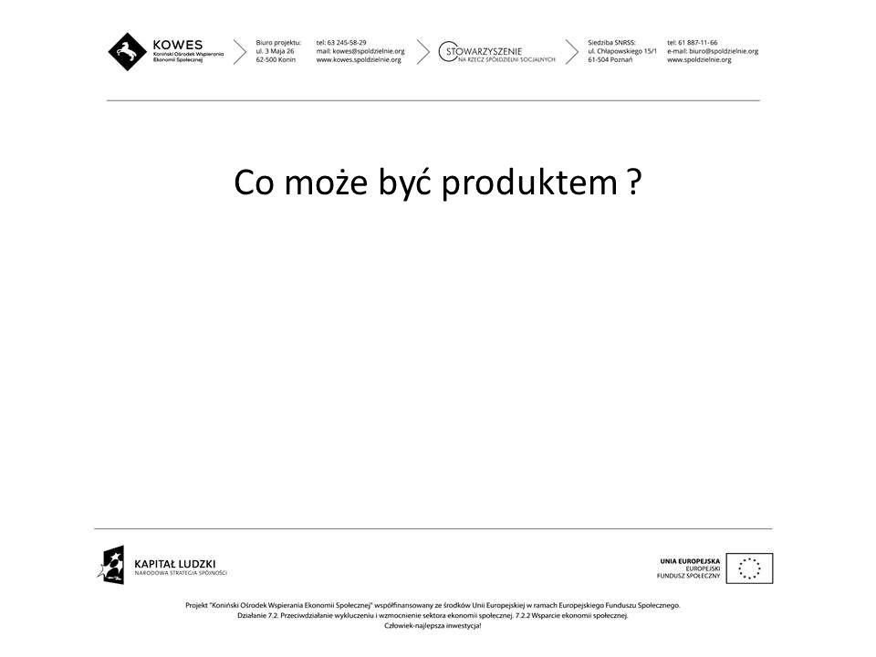 Co może być produktem ?