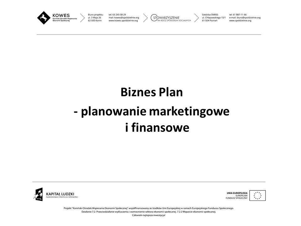 Biznes Plan - planowanie marketingowe i finansowe