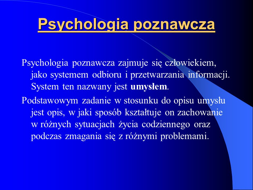 Błąd kierowcy jadącego do Szczecinka: - może źle skręcić (winny błąd procesu) - może źle pojechać, bo nie wie gdzie jest Szczecinek (błąd struktury)
