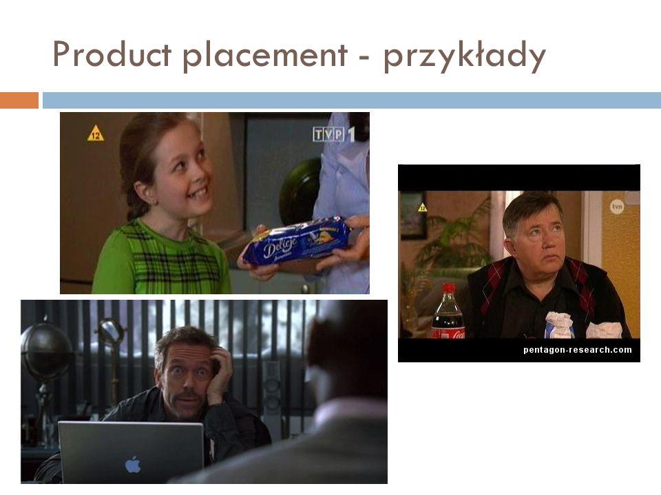 Product placement - przykłady