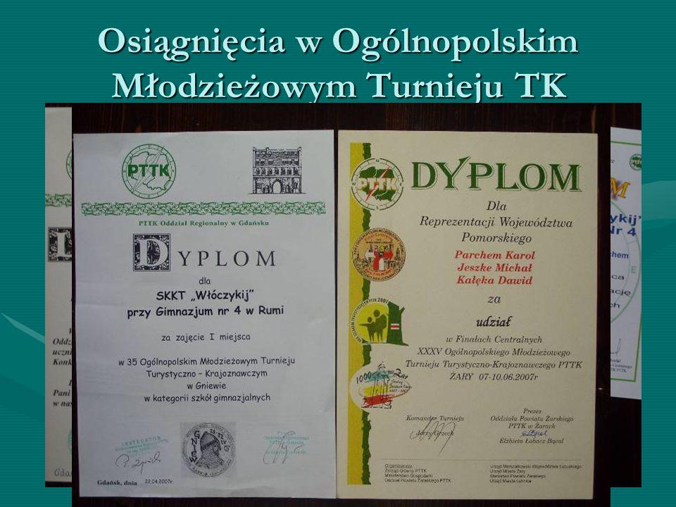 Osiągnięcia w Ogólnopolskim Młodzieżowym Turnieju TK