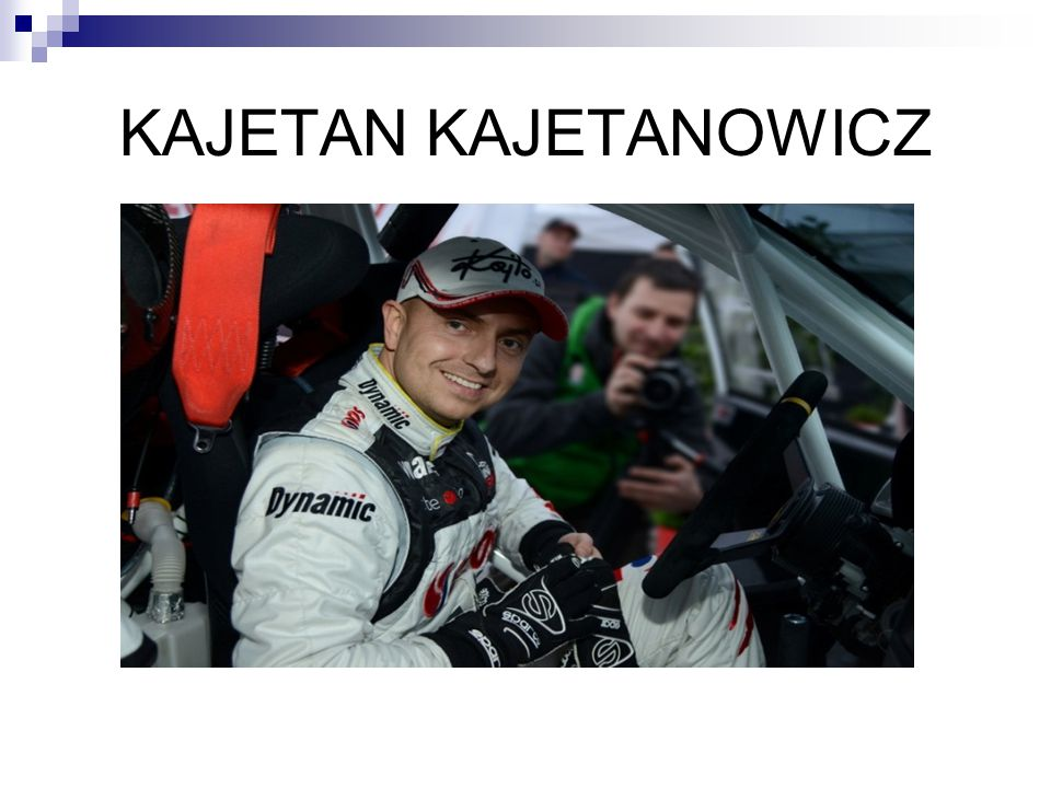 ♦ W 2003 roku Kajetan po raz pierwszy wystartował w Rajdowych Samochodowych Mistrzostwach Polski, gdzie w Rajdzie Śląskim, jadąc Peugeotem 106 Rally zajął 1 miejsce w klasie N2.