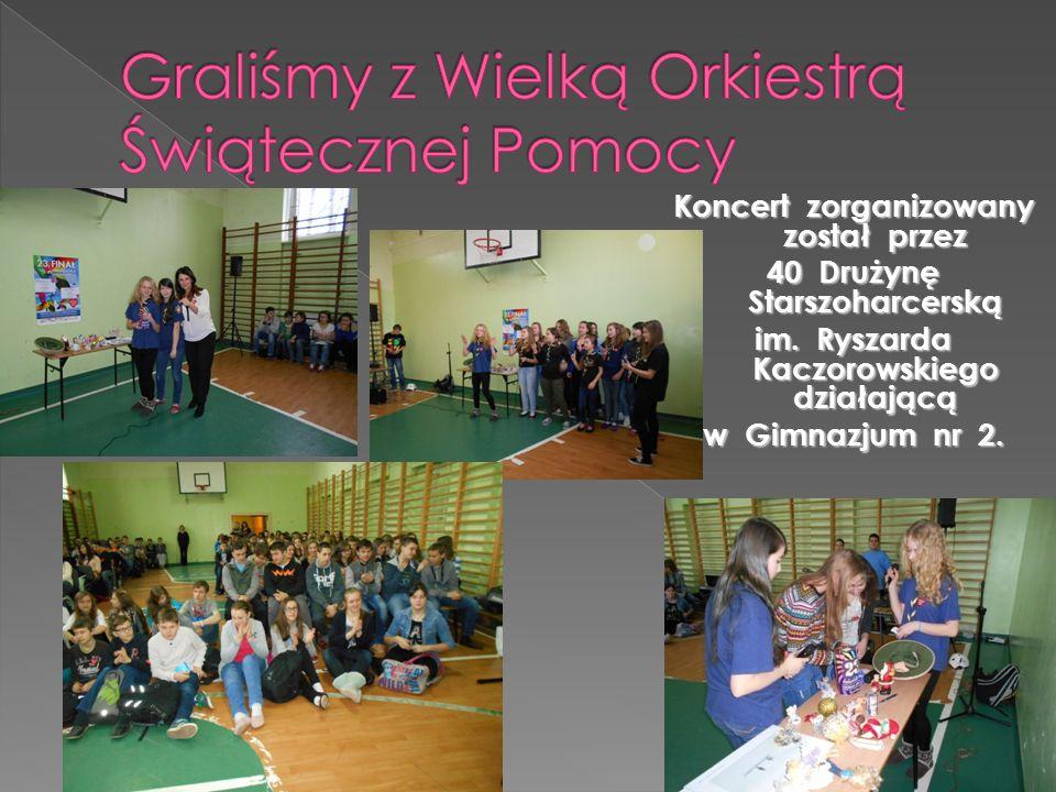 Koncert zorganizowany został przez 40 Drużynę Starszoharcerską im.