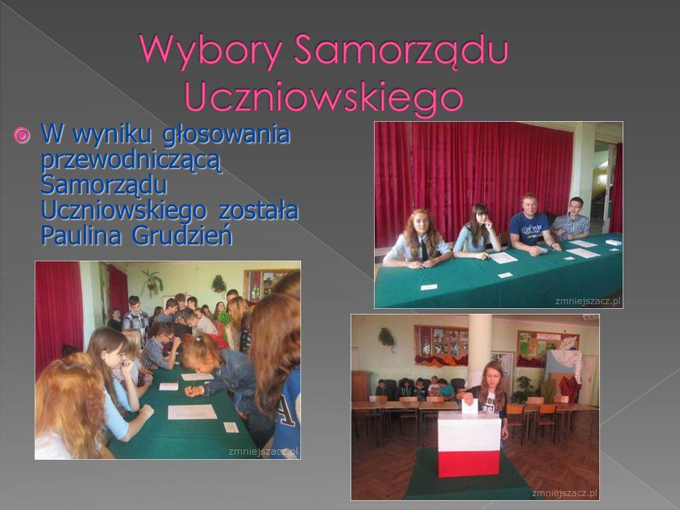  W wyniku głosowania przewodniczącą Samorządu Uczniowskiego została Paulina Grudzień