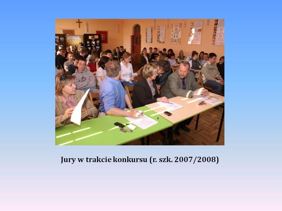 Jury w trakcie konkursu (r. szk. 2007/2008)