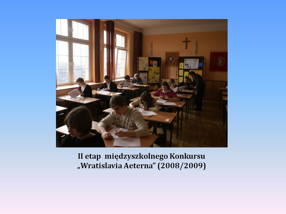 Uczniowie z Zespołu Szkół Nr 23- zdobywcy III miejsca w Konkursie Wratislavia Aeterna ( rok szk.