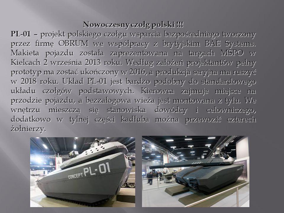 Nowoczesny czołg polski !!! PL-01 – projekt polskiego czołgu wsparcia bezpośredniego tworzony przez firmę OBRUM we współpracy z brytyjskim BAE Systems