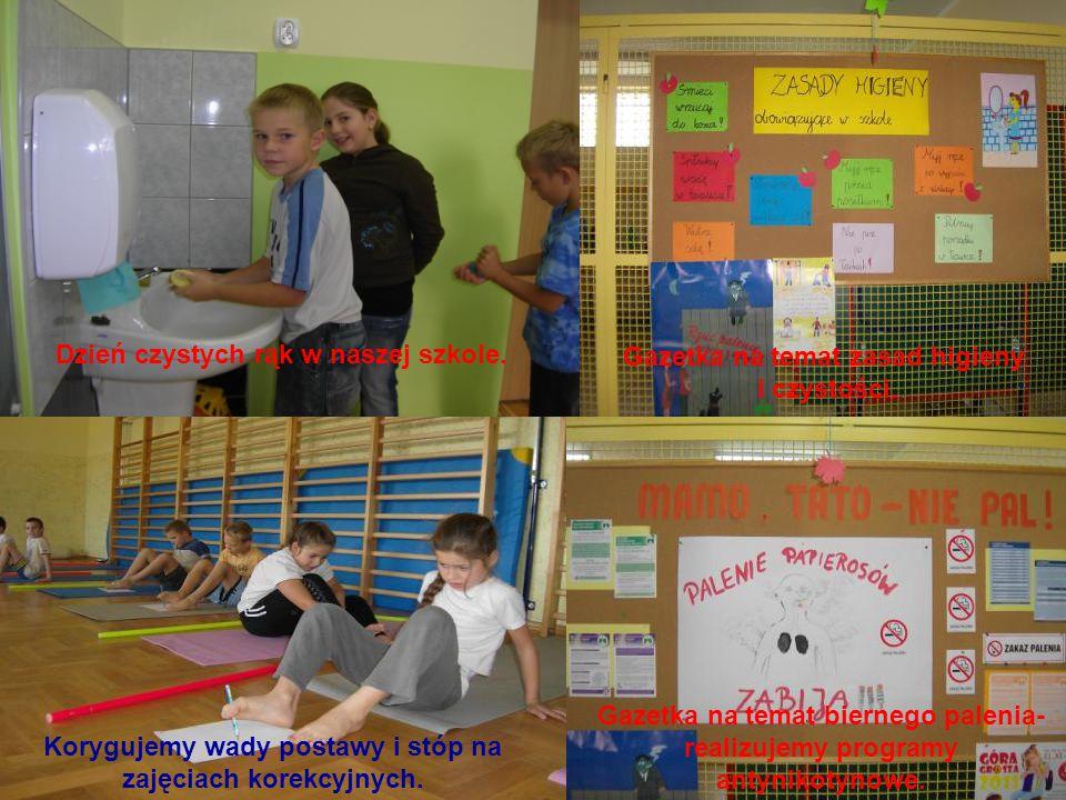 Dzień czystych rąk w naszej szkole. Gazetka na temat zasad higieny i czystości.