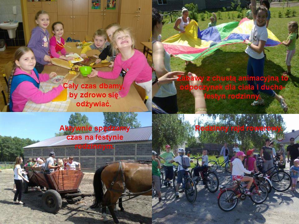 Rodzinny rajd rowerowy.Aktywnie spędzamy czas na festynie rodzinnym.