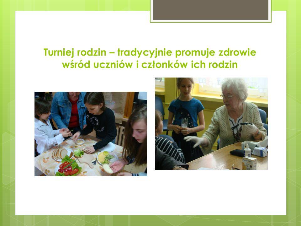 Turniej rodzin – tradycyjnie promuje zdrowie wśród uczniów i członków ich rodzin