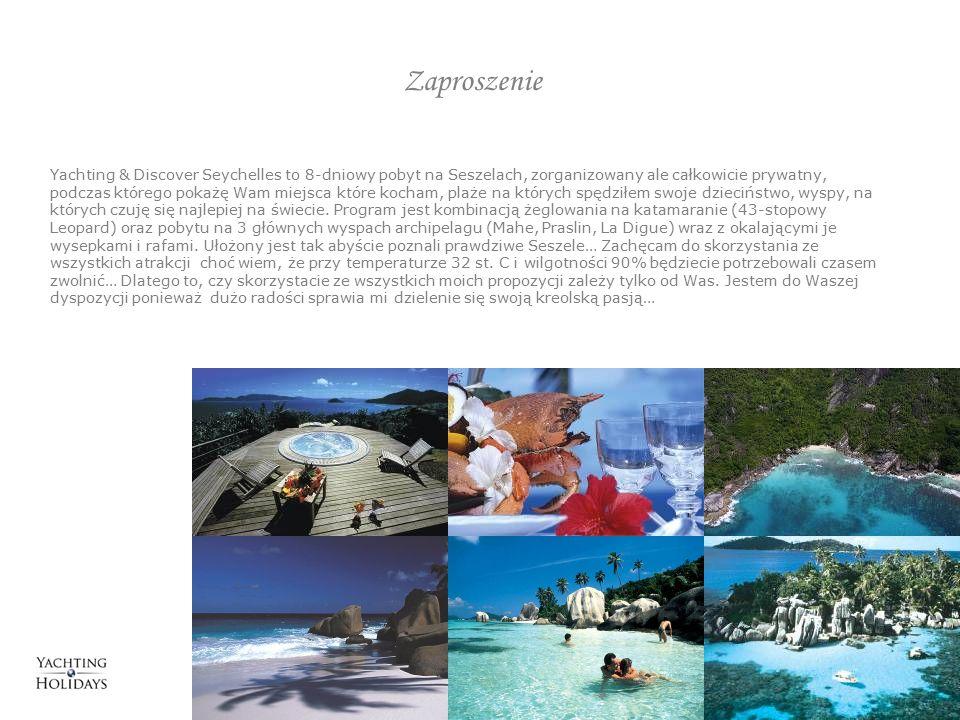 Zaproszenie Yachting & Discover Seychelles to 8-dniowy pobyt na Seszelach, zorganizowany ale całkowicie prywatny, podczas którego pokażę Wam miejsca które kocham, plaże na których spędziłem swoje dzieciństwo, wyspy, na których czuję się najlepiej na świecie.