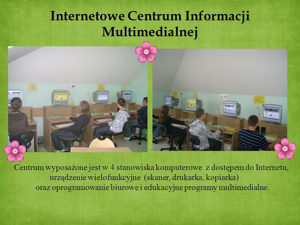 Internetowe Centrum Informacji Multimedialnej. Centrum wyposażone jest w 4 stanowiska komputerowe z dostępem do Internetu, urządzenie wielofunkcyjne (