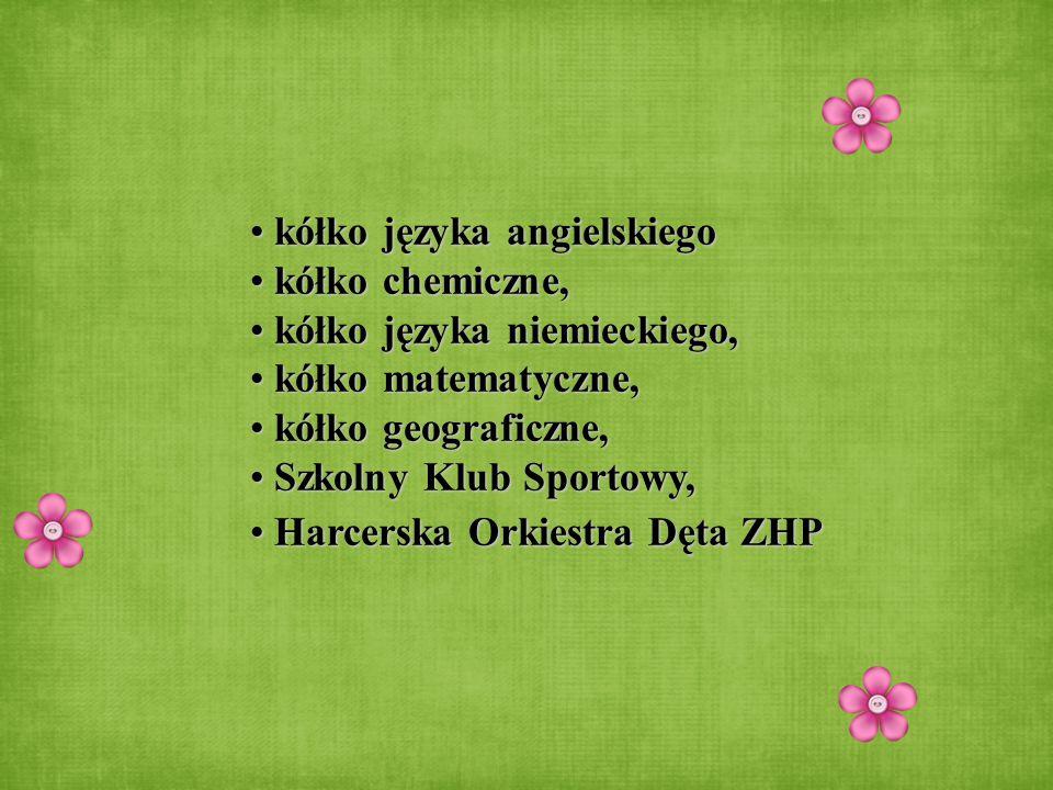 kółko języka angielskiego kółko języka angielskiego kółko chemiczne, kółko chemiczne, kółko języka niemieckiego, kółko języka niemieckiego, kółko mate