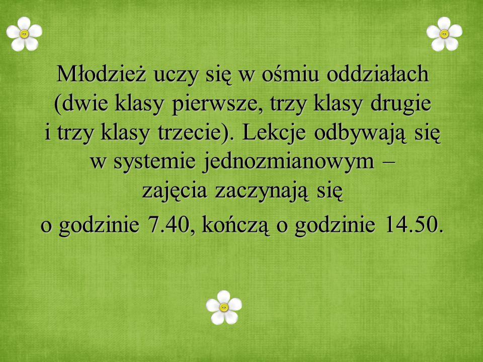W naszym gimnazjum pracuje 23 nauczycieli.