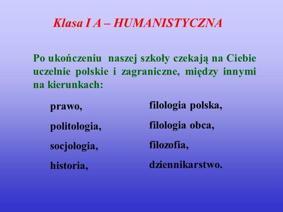 prawo, politologia, socjologia, historia, filologia polska, filologia obca, filozofia, dziennikarstwo.