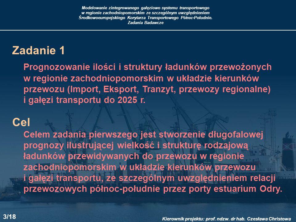 Modelowanie zintegrowanego gałęziowo systemu transportowego w regionie zachodniopomorskim ze szczególnym uwzględnieniem Środkowoeuropejskiego Korytarz