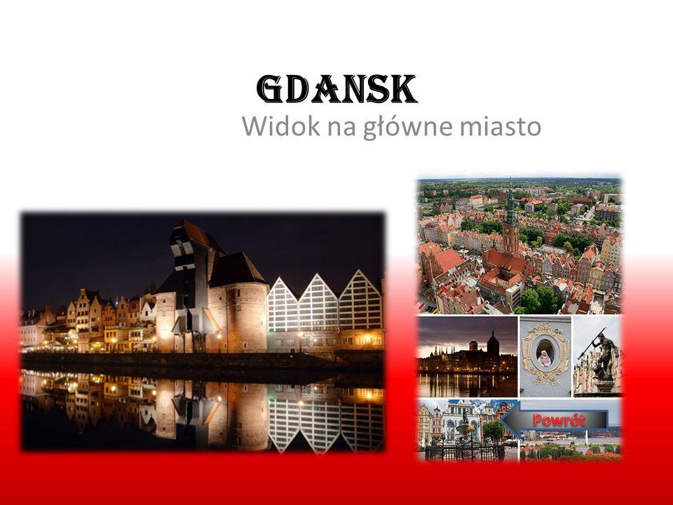 Gdansk Widok na główne miasto Żuraw i siedziba Centralnego Muzeum Morskiego w Gdańsku