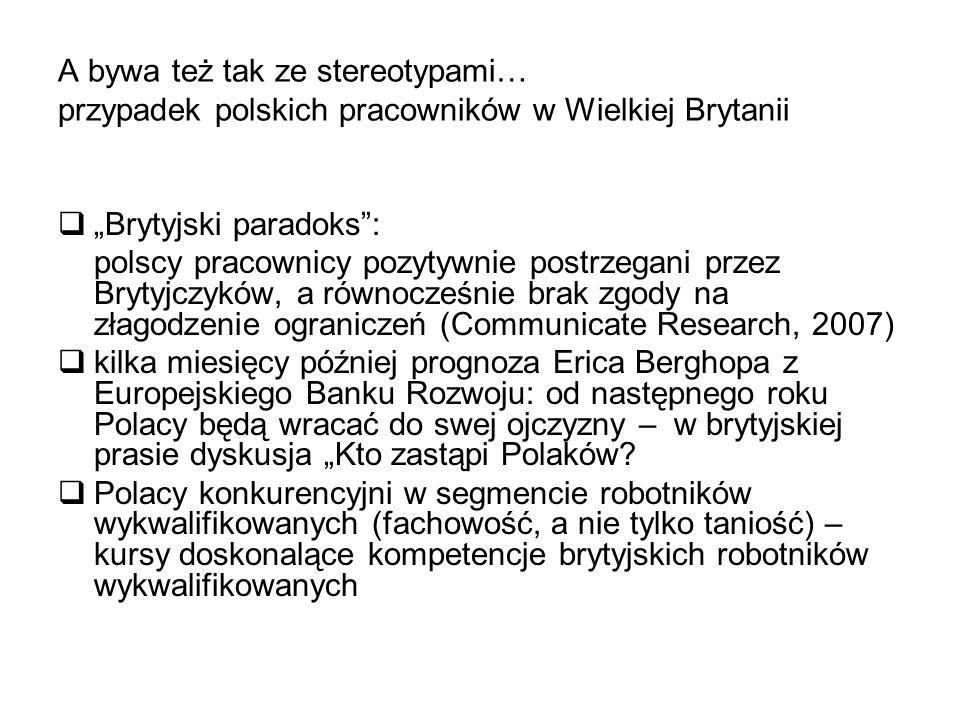 """A bywa też tak ze stereotypami… przypadek polskich pracowników w Wielkiej Brytanii  """"Brytyjski paradoks"""": polscy pracownicy pozytywnie postrzegani pr"""