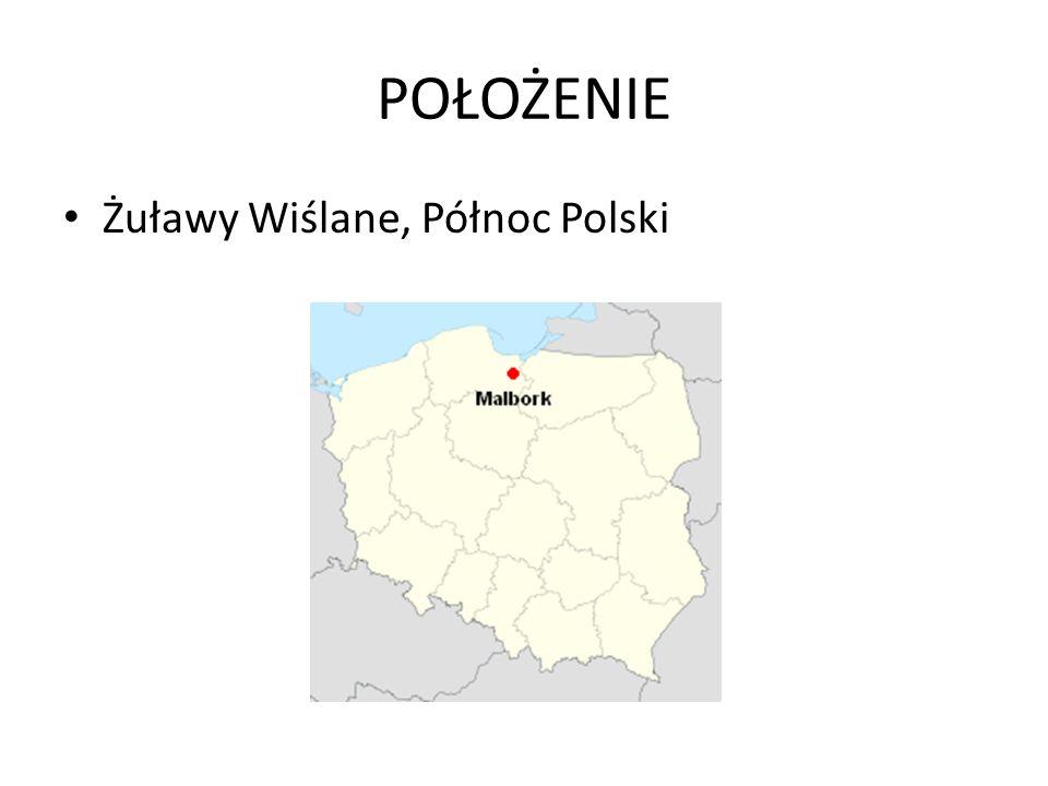 POŁOŻENIE Żuławy Wiślane, Północ Polski