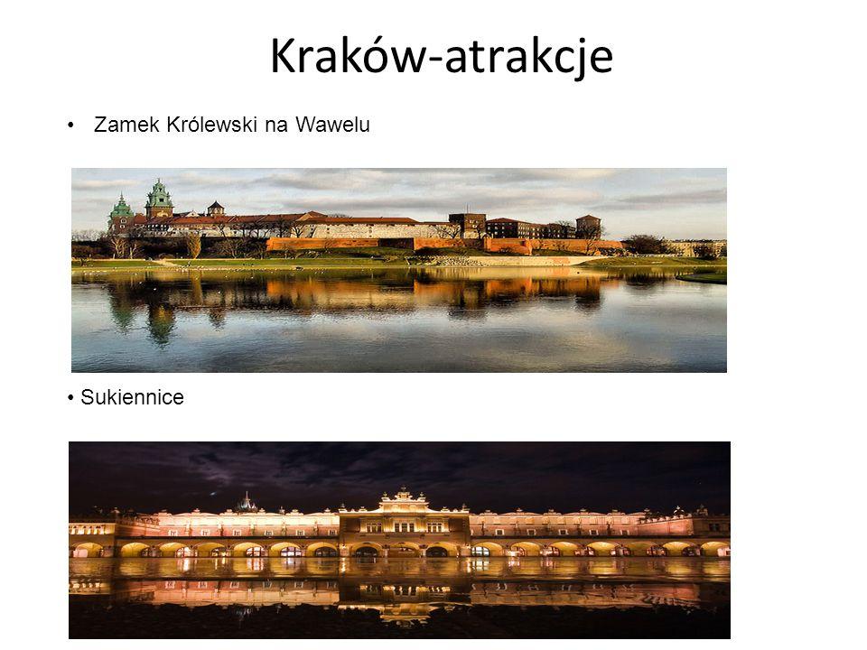 Kraków-atrakcje Zamek Królewski na Wawelu Sukiennice
