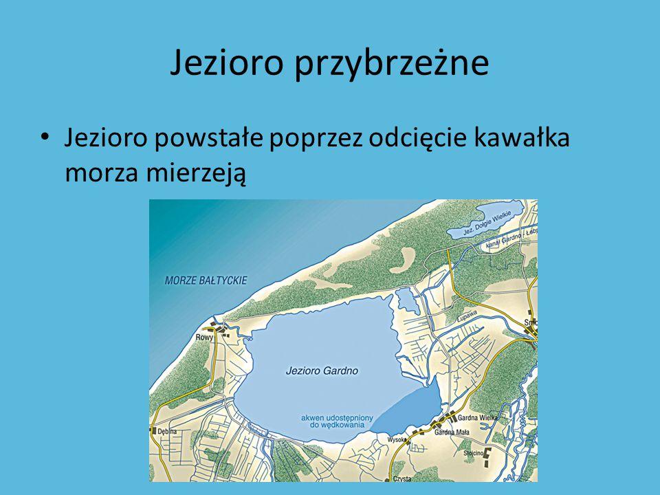 Jezioro przybrzeżne Jezioro powstałe poprzez odcięcie kawałka morza mierzeją
