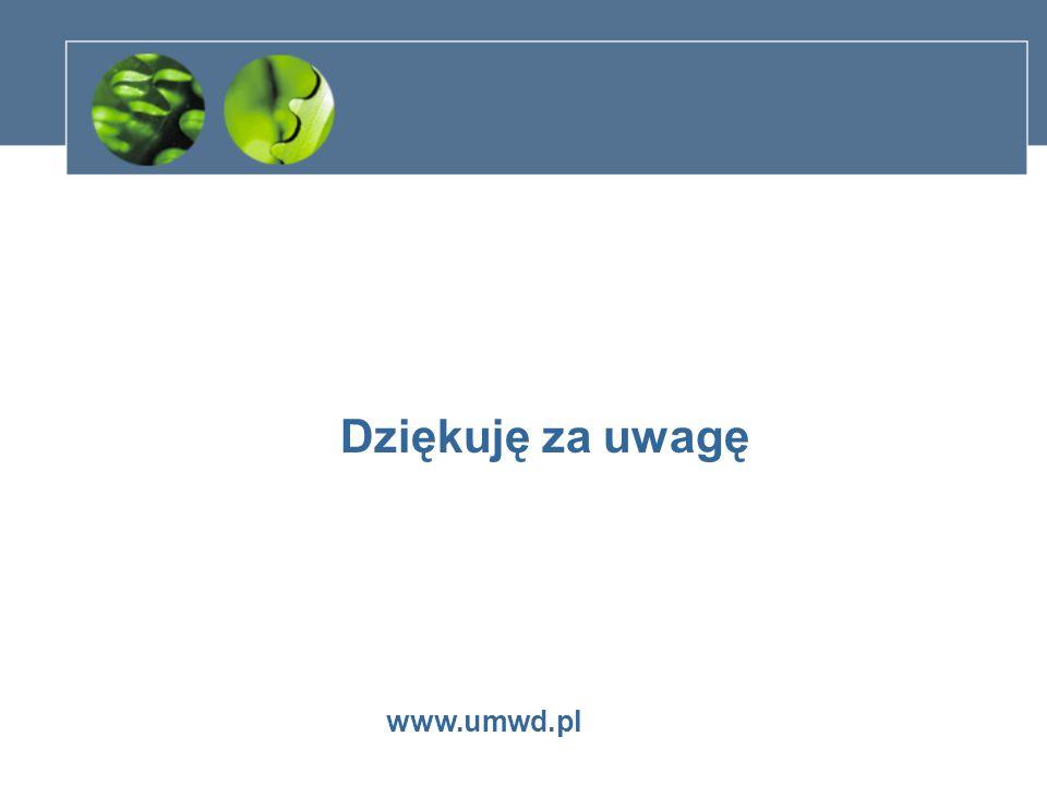 Dziękuję za uwagę www.umwd.pl