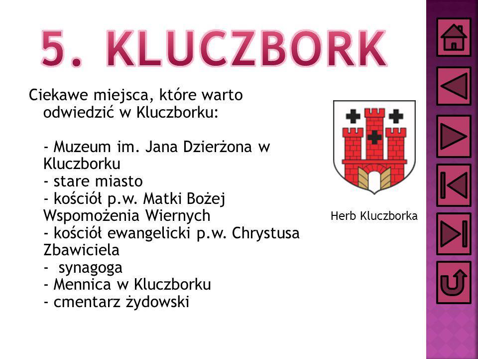 Ciekawe miejsca, które warto odwiedzić w Kluczborku: - Muzeum im. Jana Dzierżona w Kluczborku - stare miasto - kościół p.w. Matki Bożej Wspomożenia Wi