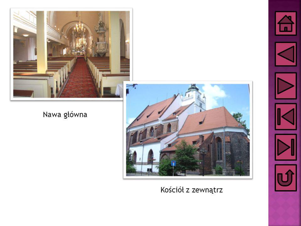 Nawa główna Kościół z zewnątrz