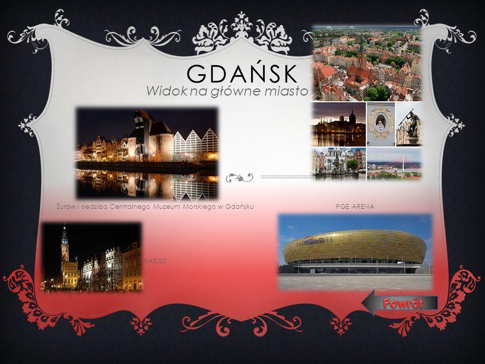 GDAŃSK Widok na główne miasto Żuraw i siedziba Centralnego Muzeum Morskiego w Gdańsku PGE ARENA RATUSZ