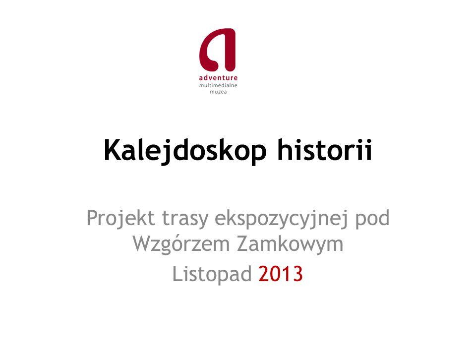 Kalejdoskop historii Projekt trasy ekspozycyjnej pod Wzgórzem Zamkowym Listopad 2013