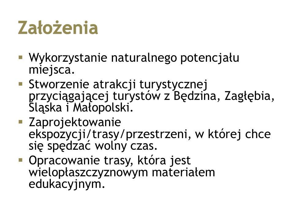  Wykorzystanie naturalnego potencjału miejsca.  Stworzenie atrakcji turystycznej przyciągającej turystów z Będzina, Zagłębia, Śląska i Małopolski. 