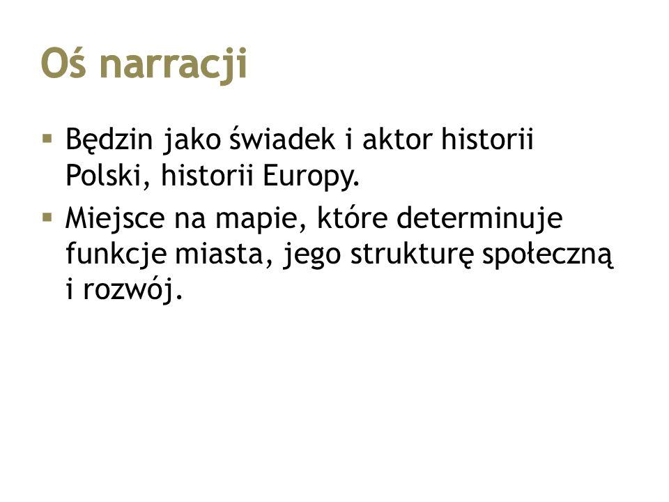  Będzin jako świadek i aktor historii Polski, historii Europy.  Miejsce na mapie, które determinuje funkcje miasta, jego strukturę społeczną i rozwó