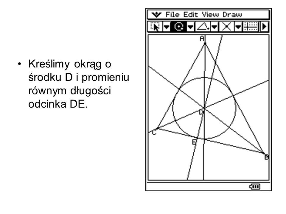 Przykłady innych trójkątów, w które wpisano okręgi Trójkąt prostokątny. Trójkąt rozwartokątny.