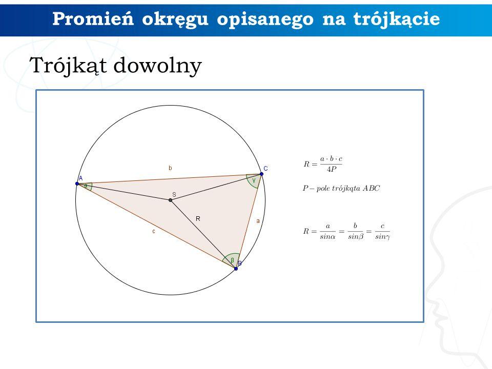 Promień okręgu opisanego na trójkącie Trójkąt dowolny