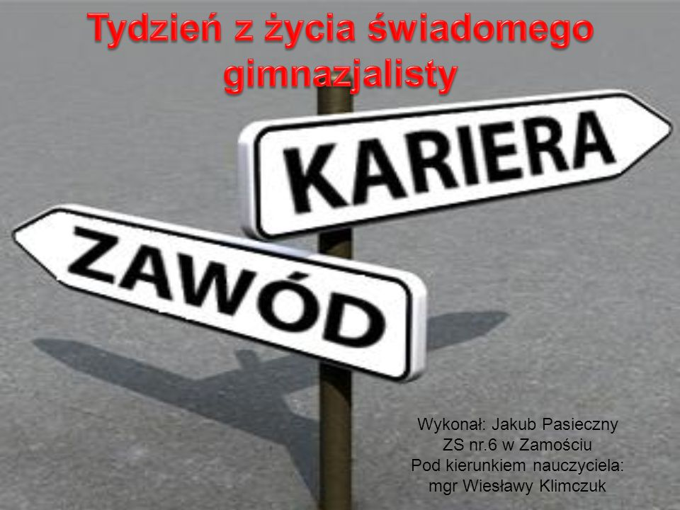 Wykonał: Jakub Pasieczny ZS nr.6 w Zamościu Pod kierunkiem nauczyciela: mgr Wiesławy Klimczuk