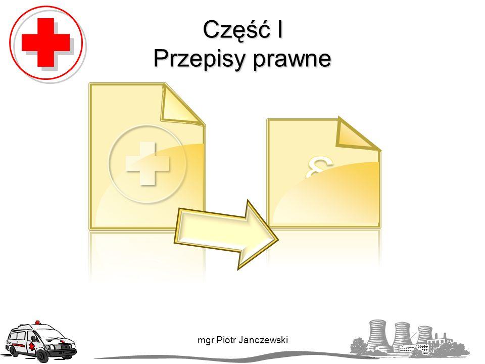Przepisy prawne W Polsce jest wiele aktów prawnych, które mówią o obowiązku udzielania pierwszej pomocy: Kodeks karny, Kodeks wykroczeń, Kodeks pracy, Prawo o ruchu drogowym, Ustawa o państwowym ratownictwie medycznym.