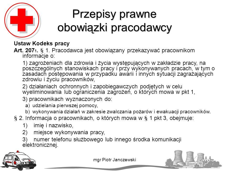 Rany mgr Piotr Janczewski załóż na ranę wyjałowiony opatrunek.