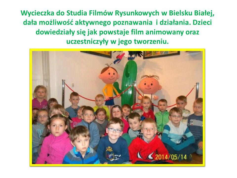 Wycieczka do Studia Filmów Rysunkowych w Bielsku Białej, dała możliwość aktywnego poznawania i działania. Dzieci dowiedziały się jak powstaje film ani