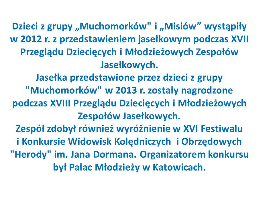 """Dzieci z grupy """"Muchomorków i """"Misiów wystąpiły w 2012 r."""